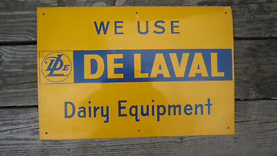 Used, VINTAGE DELAVAL TIN LITHO DAIRY EQUIPMENT SIGN CREAM SEPARATOR for sale  Shipping to Canada
