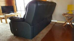 Italian leather couch and recliners