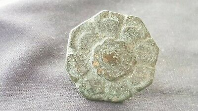 Stunning VR early Medieval button found in Europe in uncleaned condition. L133h