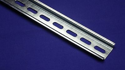 20 Pieces Din Rail Slotted Steel Rohs Compliant 35mm X 7.5mm 1 Meter