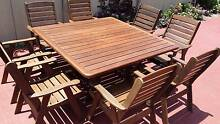 QUALITY S2Dio 8 Seater HARDWOOD LARGE SQUARE OUTDOOR SETTING Paradise Point Gold Coast North Preview