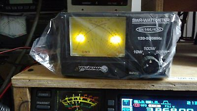 Ham Radio SWR METER 0-500 Watts VHF +UHF Cross Needle Easy-Read Lighted SX-144