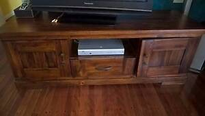 Wooden TV Stand ex Freedom Furniture (Barbados Brandy) Turramurra Ku-ring-gai Area Preview