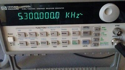 Keysight Agilent Hp 33120a Function Waveform 15 Mhz Generator