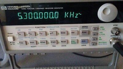 Hp Agilent Hewlett Packard 33120a Function Arbitrary Waveform 15 Mhz Generator