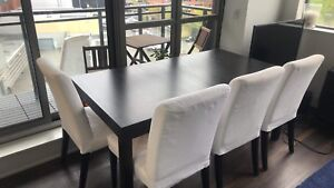 IKEA bjursta dinner table for 6-8