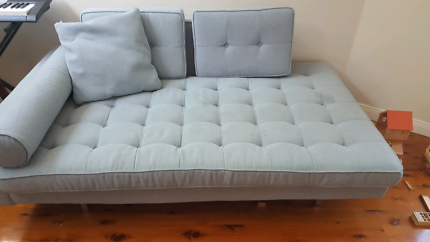 Grey lounge  sofa day bed Merewether