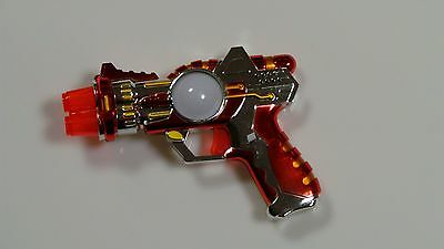Light Up Space Gun (5pcs LED Space Toy Gun Multi-Color & Sound Effects Light-Up)