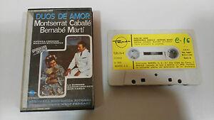 MONTSERRAT-CABALLE-DUOS-DE-AMOR-CINTA-TAPE-CASSETTE-SPANISH-EDIT-PAPER-LABELS