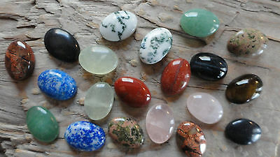 Cabochon Gemstones ASSORTED 10x14mm Pkg 20