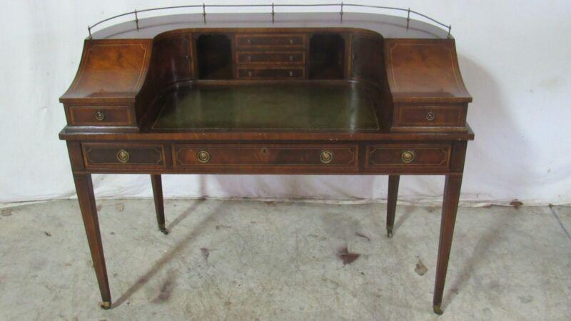Federal Desk Mahogany Inlaid Vintage Quality