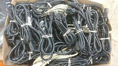 Lot 100 Computer ATX AT IEC320 6ft Power Supply Cable 3 Prong US USED ()