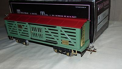 MTH IVES STANDARD GAUGE 10-2150 20-193 RED-GREEN STOCK CAR IN ORIGINAL BOX