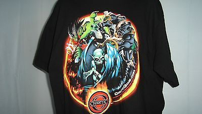 Chaotic Online Video Card Game Animated Gamers Cartoon Mens T Shirt Xl
