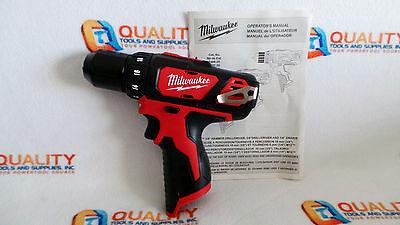 New Milwaukee 2407 20 M12 12V Li Ion Cordless 3 8  Drill Driver   Bare Tool