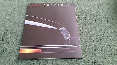 1989 CHEVROLET USA 80p BROCHURE Camaro Caprice Cavalier Corvette Blazer Suburban