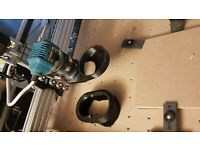 Openbuilds//Ooznest,58mm outlet CNC Dust shoe for Makita RT0700C//kATSU 101748.