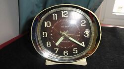 VINTAGE WESTCLOX BIG BEN ALARM CLOCK-Parts Or Repair Brown Face-Illuminated Dial