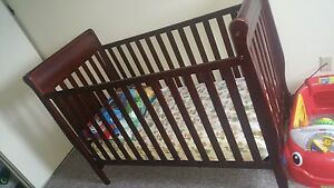 3 in 1 cherry wood CRIB ONLY  for sale! Cambridge Kitchener Area image 1