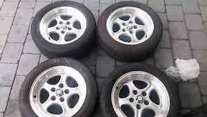 "16"" alloys with 225/50 tyres 5x120  fit BMW etc Elanora Heights Pittwater Area Preview"