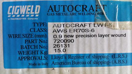 15kg mig wire | Gumtree Australia Free Local Classifieds
