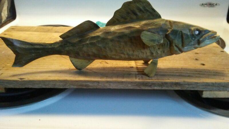 Walleye Fish Decoy Wooden