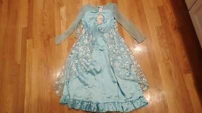 Elsa Disney Princess from Movie Frozen Costume Dress Pajamma PJ Size Medium 7 8
