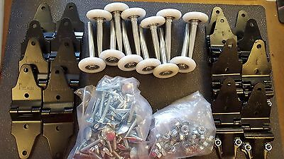 Whiting Style Box Roll Up Door Truck Trailer Door Hinge & Roller Kit w/Hardware  White Scroll Boxes