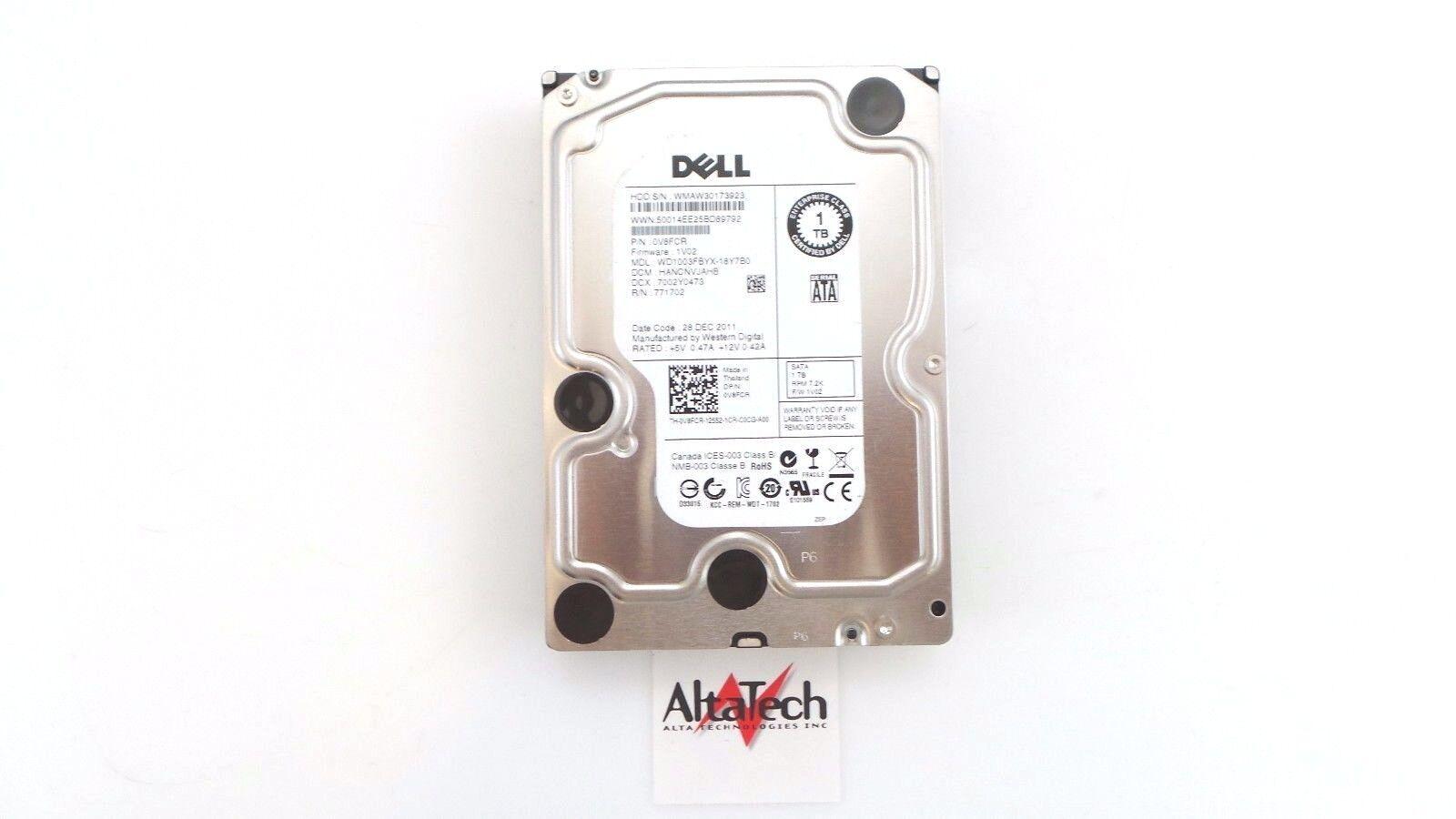 Dell V8FCR Western Digital 1TB 7.2K SATA 3.5/'/' 3G WD1003FBYX HDD Hard Drive