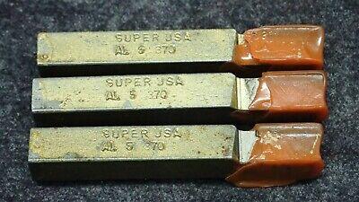 3 Morse Brazed Tool Bits Al-5 Grade C5 Square 516 X 2-12 Edp 70209