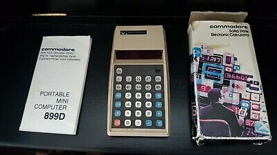 Commodore Solid State Electronic Calculator 899D