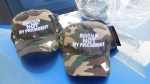 Biden is NOT my president hat CAMO great buy 9.00