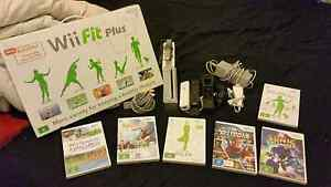 Nintendo Wii Console with fit board and 6 games Kidman Park Charles Sturt Area Preview