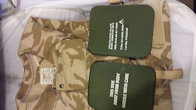 British Army Desert DPM ECBA Enhanced Combat Body Armour & Filler 180/104 VGC