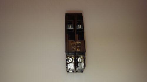 Siemens ITE Gould Q1515 Tandem Circuit Breaker 15/15 Amp