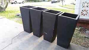 Large black terracotta pots New Lambton Heights Newcastle Area Preview