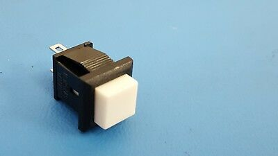 Square Momentary Push Button Switch Spst Snap Panel Mnt 1a 125 Vac 4 Pcs