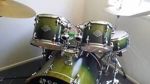 Sonor Green Fade Drumkit Gladstone Gladstone City Preview