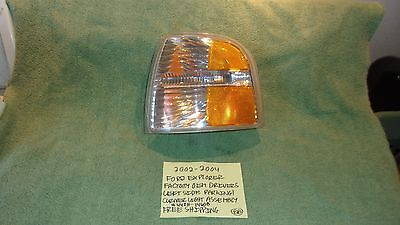 - 2002-2004 FORD EXPLORER FACTORY OEM DRIVERS LEFT SIDE CORNER LIGHT FREE SHIPP