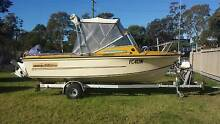 ** RARE 1987 BILLFISHER 5.4M WITH JOHNSON 140HP!! ** Warners Bay Lake Macquarie Area Preview
