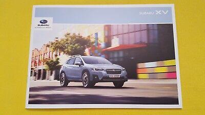 Subaru XV SE Premium 2.0i 2.0D paper brochure sales catalogue 2018 MINT 4x4 X V