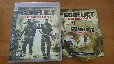 Conflict Denied Ops PS3 PlayStation 3 Complete Boxed with manual VGC REGION FREE for sale  Shipping to Nigeria