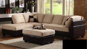SECTIONAL SOFA WITH OTTOMAN FOR 649 ONLY