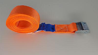 10 x Spanngurte / Zurrgurte, LC(U): 250 daN (KG), Klemmschloss, 5 mtr., 25mm
