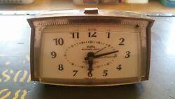 Vintage Westclox Electric Dialite Automatic Alarm Desk Clock Alarm-O-Matic 530-A