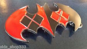 New Dc Comics Harley Quinn Batman logo Joker Belt Buckle cosplay  new design