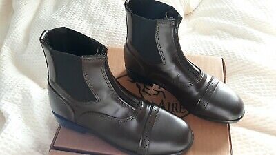 Devon-Aire Ladies Zip Synthetic Leather Paddock Riding Boots 8.5 Brown  (Devon Aire Ladies Synthetic Paddock)