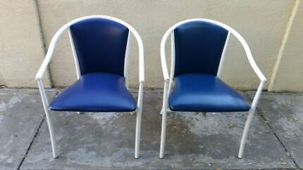 Guest/Cafe chairs (blue colour) $9 each. PICK UP ONLY! Flagstaff Hill Morphett Vale Area Preview