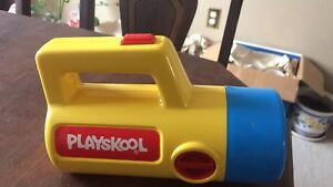 Vintage Playskool flashlight