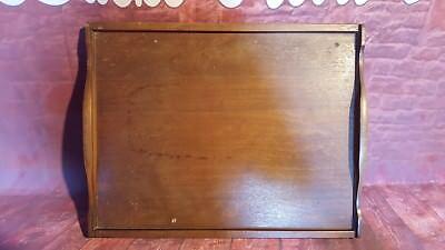 Antique Victorian Edwardian Oak Wooden Serving Servants Butlers Tray Tea Coffee
